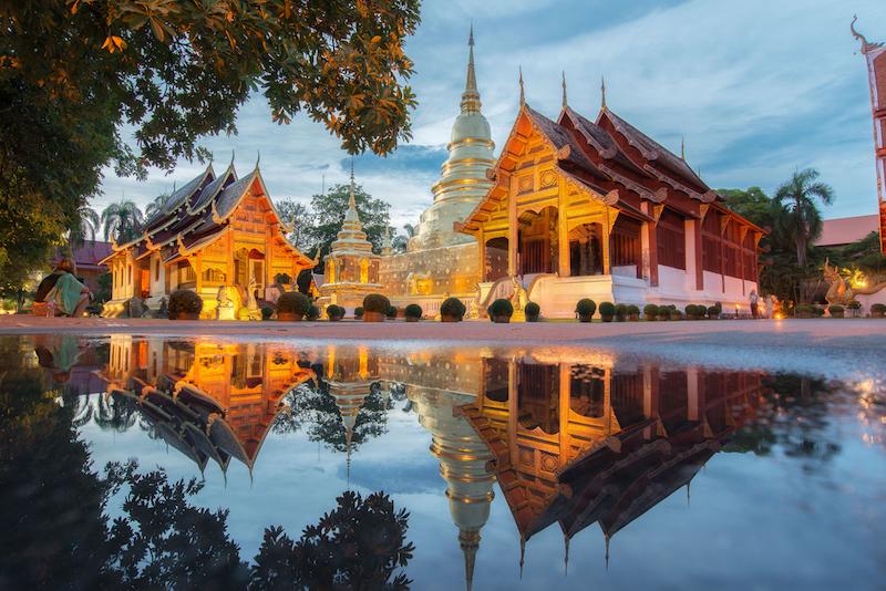 Tempio Wat Phra Sing a Chiang mai, Thailandia