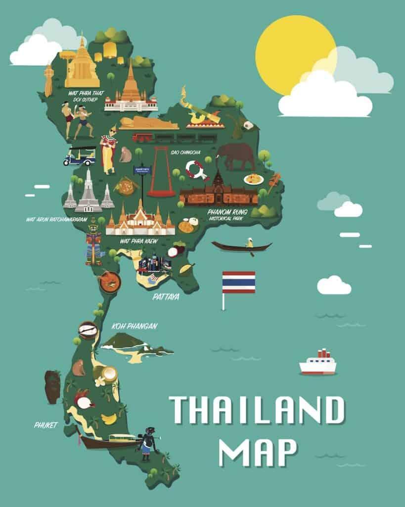 Tra Vietnam E Thailandia Cartina Geografica.Dove Si Trova La Thailandia Mappa Qual E La Capitale Le Citta Piu Importanti