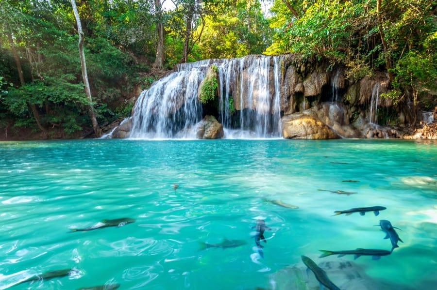 Le bellissime cascate di Erawan, Kanchanaburi