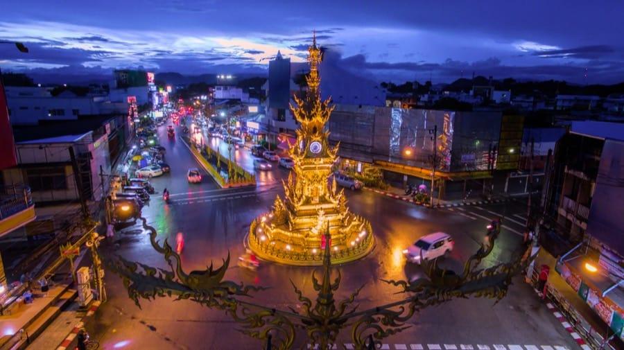 La clock tower nel centro di Chiang Rai