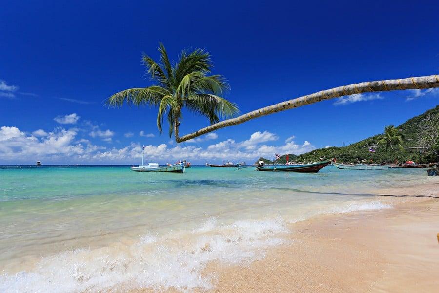 La spiaggia di Sairee Beach, Koh Tao