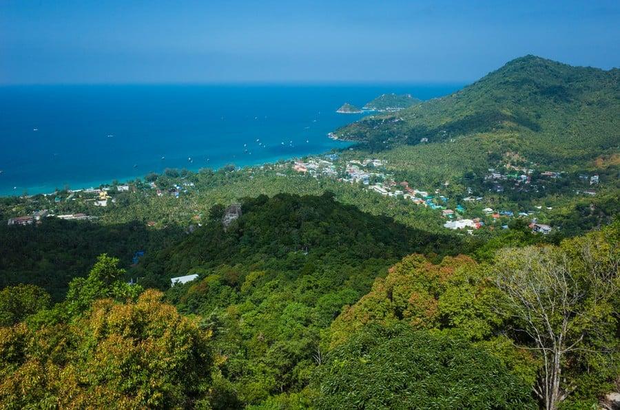 La spettacolare vista dal West Coast Viewpoint, Koh Tao