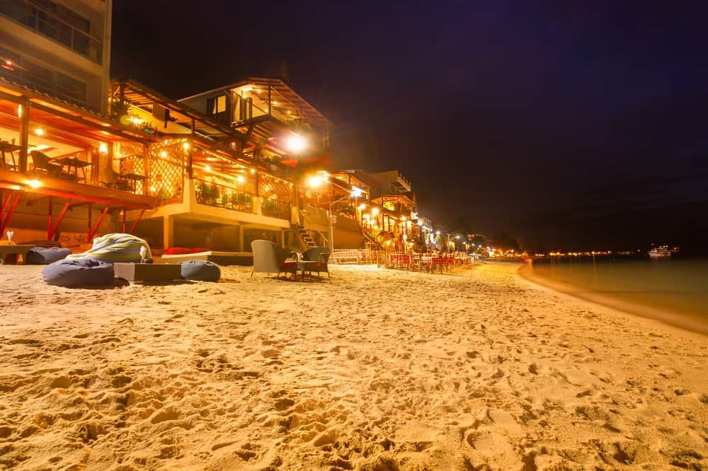 La vita notturna a Chaweng Beach
